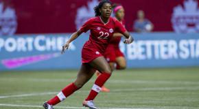 Ashley Lawrence adjusting to left back spot for Canada