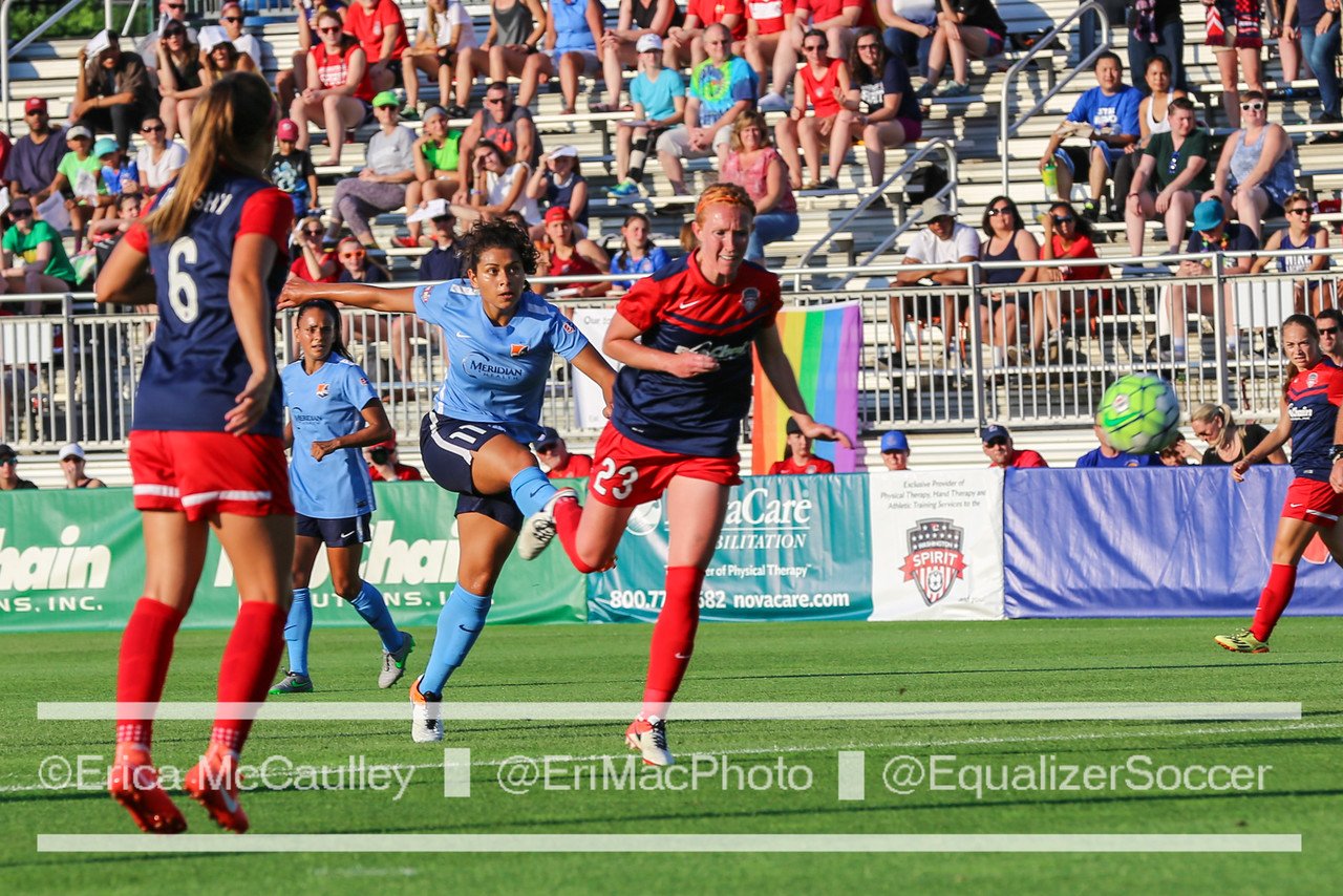 Raquel Rodriguez scores her first NWSL goal. (Photo Copyright Erica McCaulley for The Equalizer)
