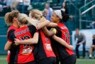 Western New York, Houston split four goals evenly