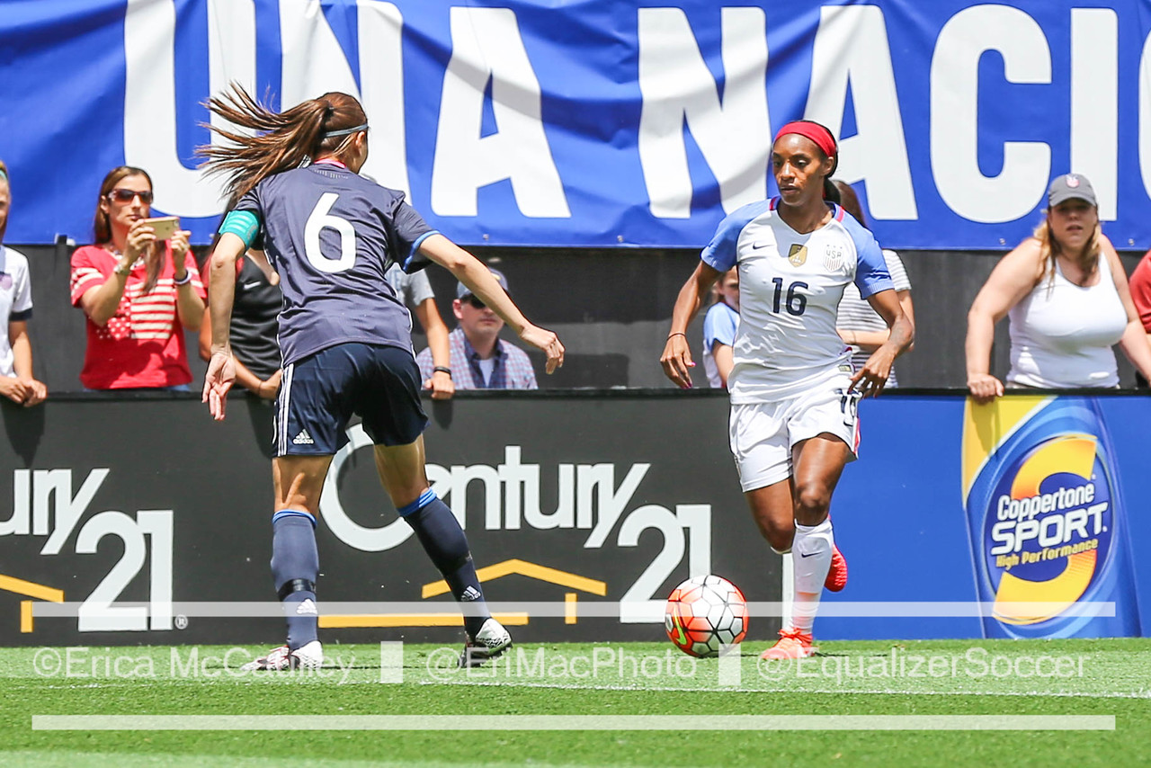 Crystal Dunn scored her first Olympic goal against Colombia on Tuesday. (Photo Copyright Erica McCaulley for The Equalizer)