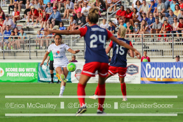 Estelle Johnson (24) had not played a minute this season before stepping in to play 90 on Saturday, a sure sign of the Spirit's depth (photo copyright EriMac Photo for The Equalizer)