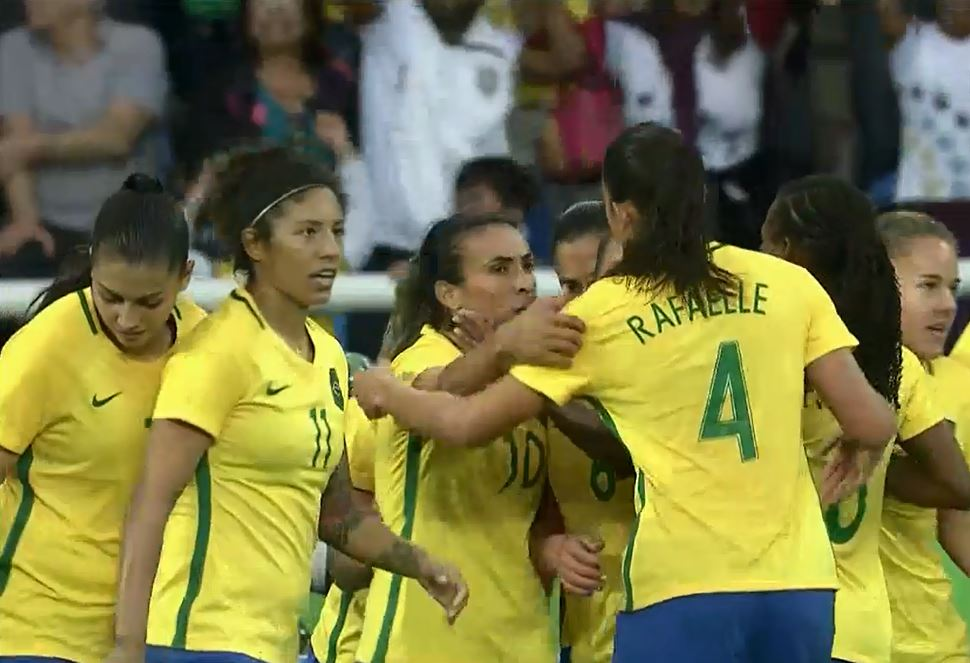 Brazil looked strong in a 3-0 win over China.