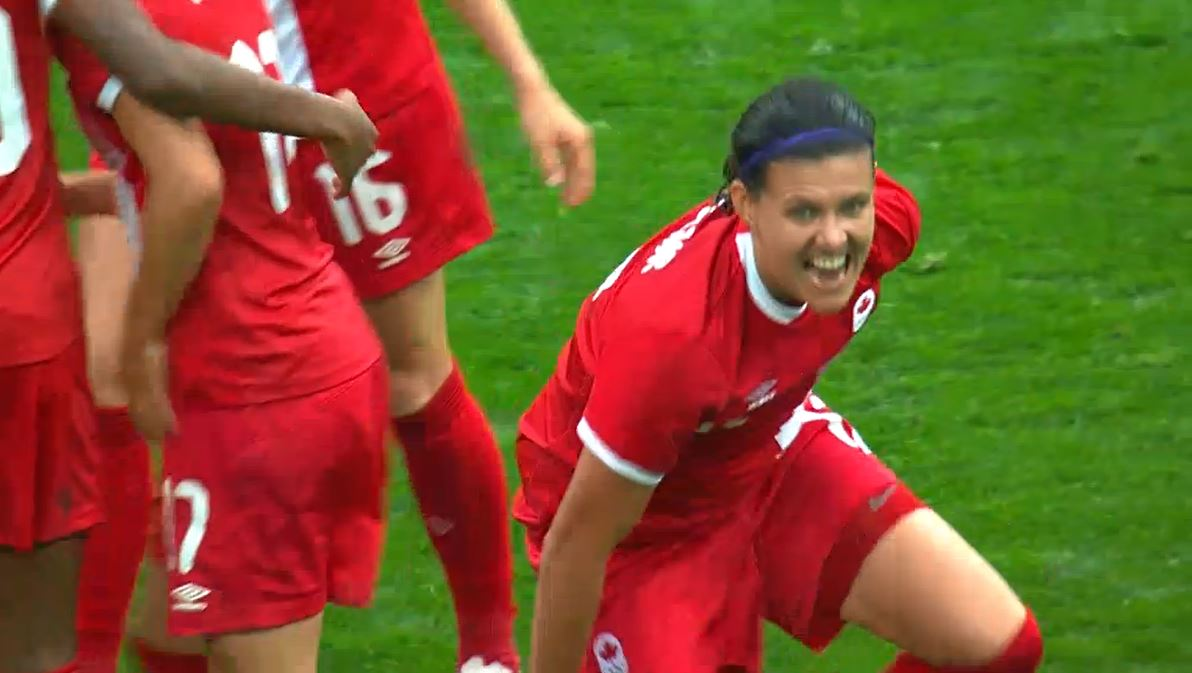 Christine Sinclair scored an insurance goal in the 80th minute to secure the win for Canada.