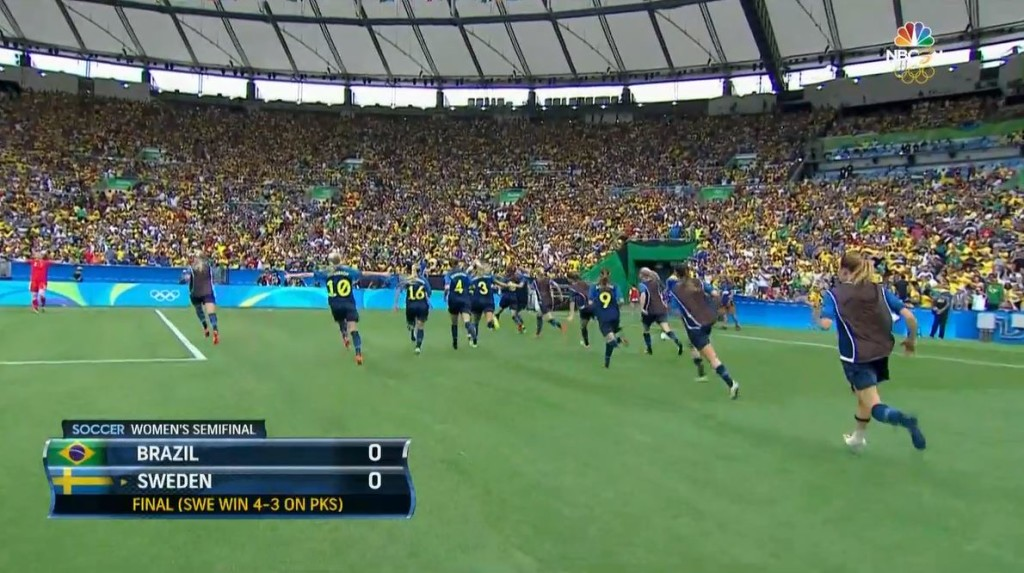 Sweden celebrates another PK shootout-victory.