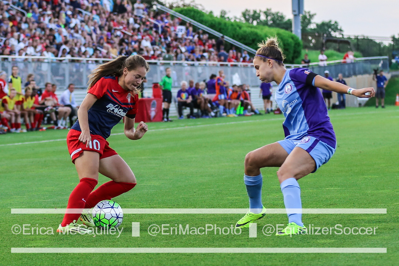 Steph Catley (right) is out for the rest of the NWSL season. (Photo Copyright Erica McCaulley for The Equalizer)