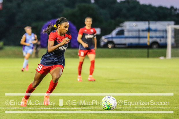 Crystal Dunn recorded her fifth assist this season in the Spirit's 1-1 draw with the Flash. (photo copyright EriMacPhoto for The Equalizer)