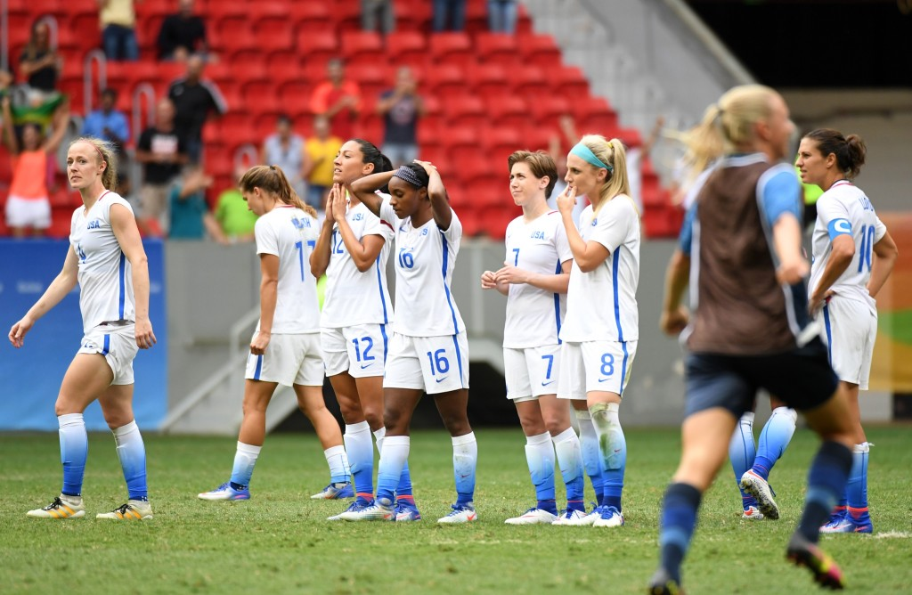 The USWNT is out of a major tournament at the quarterfinal stage for the first time ever. (Christopher Hanewinckel-USA TODAY Sports)