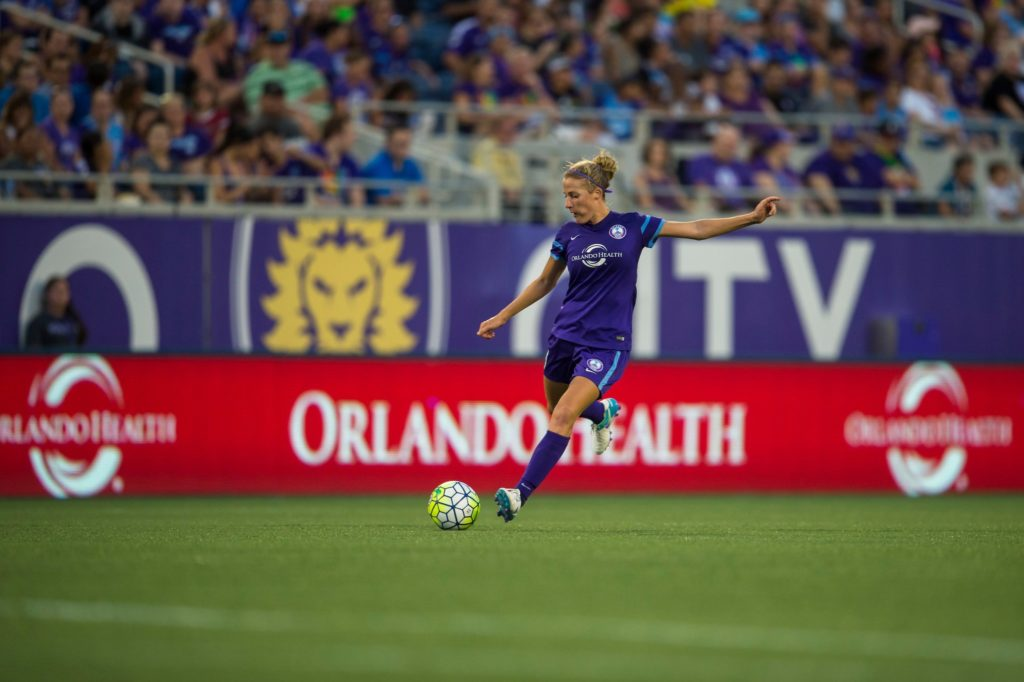 Becky Edwards will retire following the 2016 NWSL season. She has won three professional-league titles in the United States. (Photo: Orlando Pride)