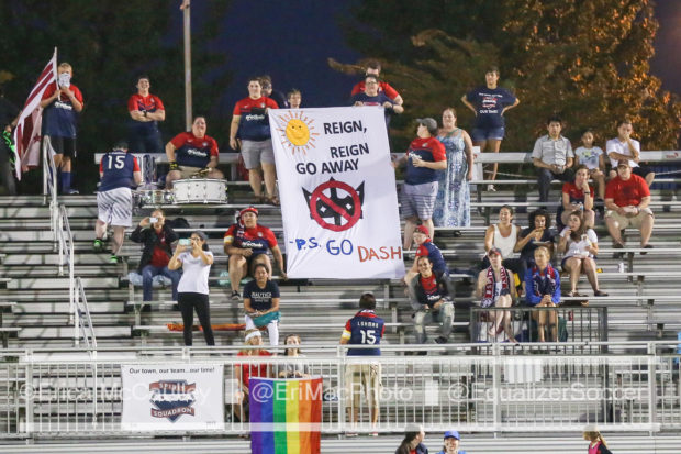 The Spirit Squadron showed up hoping for a trophy, got a home playoff game, but many left angry at their owner. (photo copyright EriMac Photo for The Equalizer)