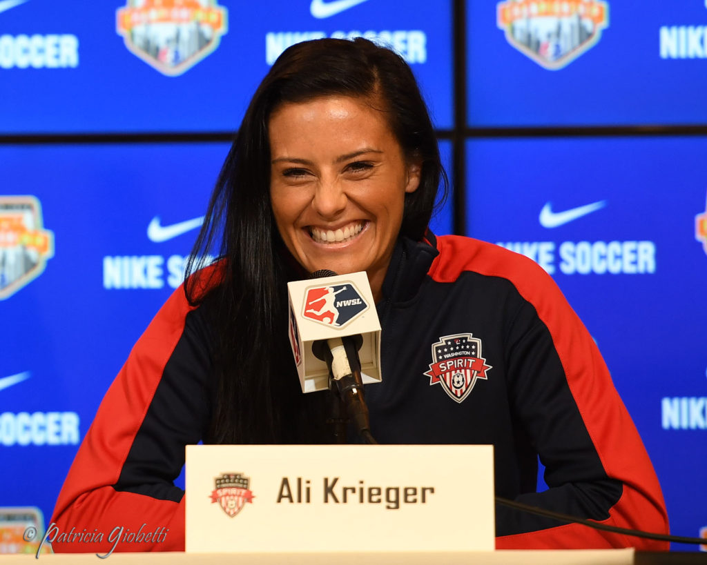 Ali Krieger hopes to add an NWSL trophy to her collection on Sunday. (Photo Copyright Patricia Giobetti for The Equalizer)