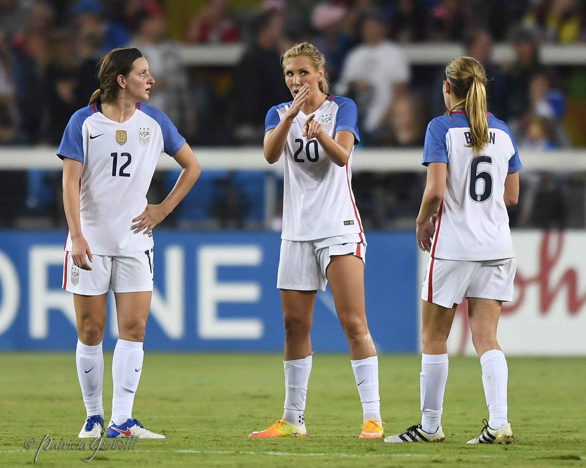 The USWNT's defense, whether a back four or back three and no matter the personnel, has been less stellar in 2016 than it was in 2015. The good news? Andi Sullivan has been stellar in midfield. (Photo Copyright Patricia Giobetti for The Equalizer)