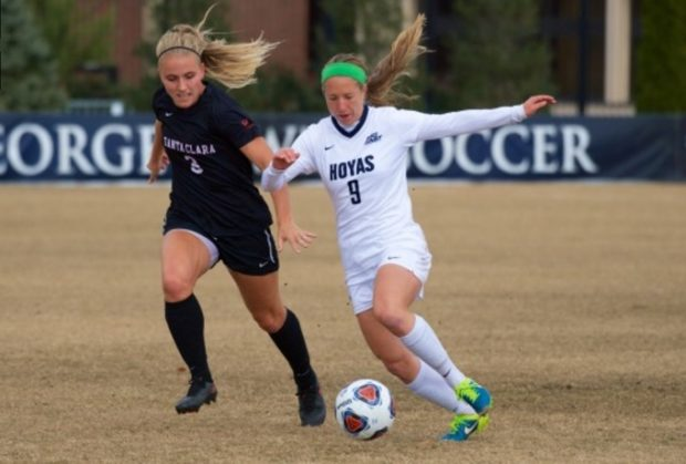 Crystal Thomas' strike leads Georgetown to the College Cup ...