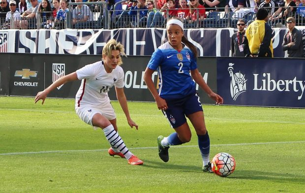 The USWNT competed against France in the Nashville leg of the inaugural SheBelieves Cup. (photo by Allison Lee)