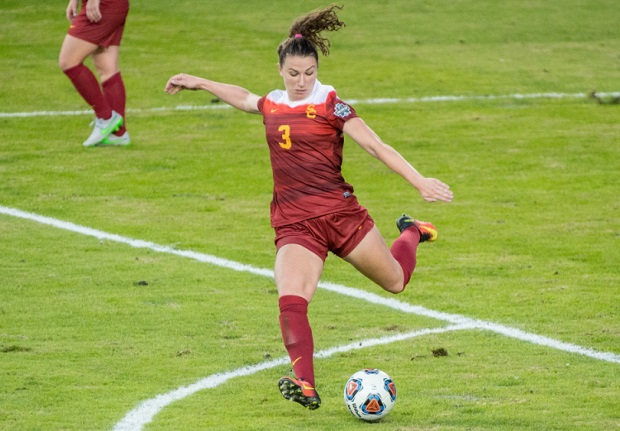 Morgan Andrews figures to be off the board early next Thursday. (photo courtesy USC Women's Soccer Twitter)