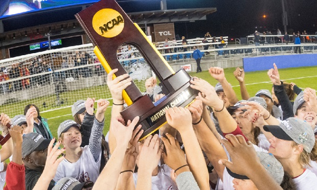After a wild NCAA season it was USC who got to celebrate with the trophy after winning the 2016 College Cup. (photo courtesy USC Women's Soccer Twitter)