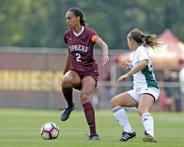 SImone Kolander wants to continue her career in NWSL following a successful career at Minnesota (Copyright Christopher Mitchell / SportShotPhoto.com)