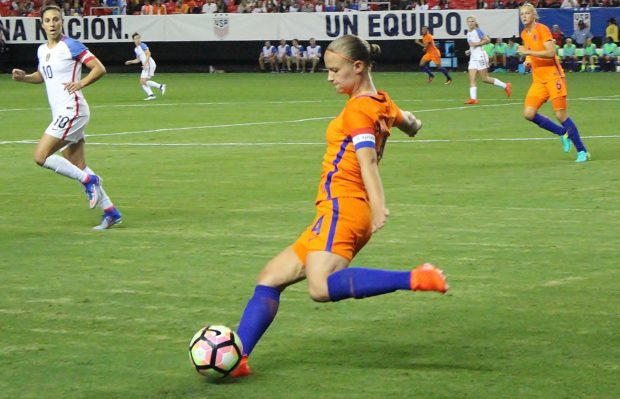 Mandy van der Berg was one of 25 players named to the Netherlands roster for La Manga. (photo by Allison Lee