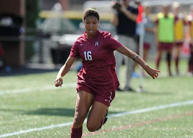 Margaret Purce from Harvard was taken by the Boston Breakers as the No. 9 overall pick. (photo courtesy Harvard)
