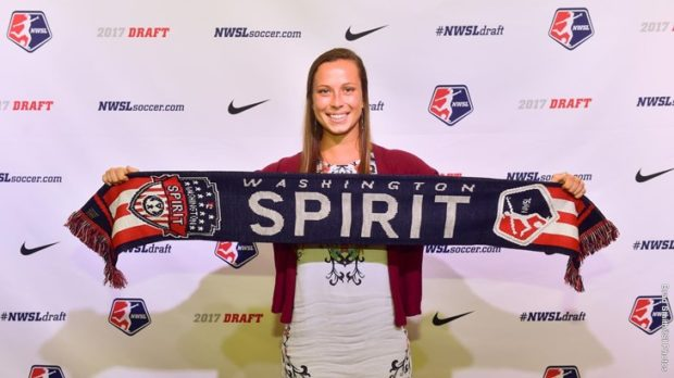 Meggie Dougherty Howard was drafted by the Washington Spirit in the 2017 NWSL College Draft. (photo courtesy Washington Spirit)