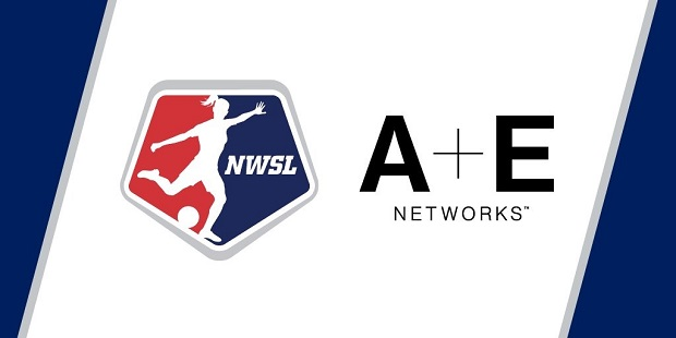 A + E Networks are taking an equity stake in NWSL and will air a game of the week every Saturday on Lifetime (graphic by NWSL)
