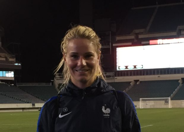 Amandine Henry with France at Lincoln Financial Field in Philadelphia (photo copyright Harjeet Johal for The Equalizer)