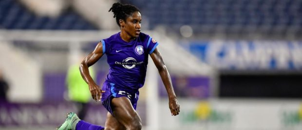 Jasmyne Spencer scored the Pride's third goal in their final preseason match. (photo: Orlando Pride)