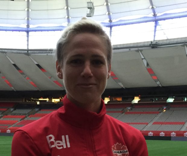 Sophie Schmidt is loving life in soccer mad Germany, but is also savoring the culture with the Canadian national team (photo copyright Harjeet Johal for The Equalizer)