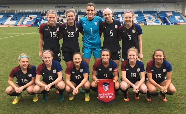 The U.S. U-18 team drew England 0-0 to close out three-game series. (photo courtesy U.S. Soccer)