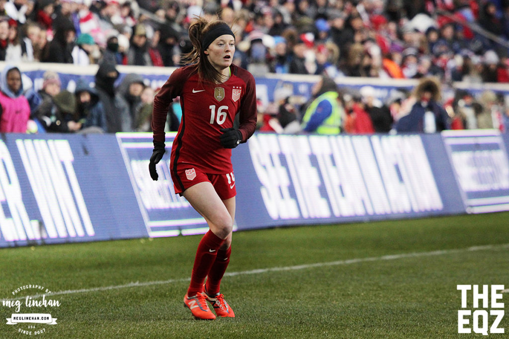 Rose Lavelle had an impressive debut with the senior national team against England. (MEG LINEHAN/Equalizer Soccer)