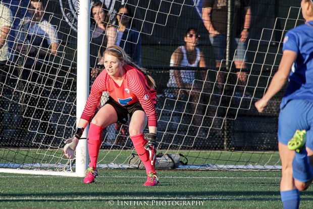 Libby Stout's 2017 season is off to a rocky start. The Breakers keeper has a sprained ankle that will keep her off the field up to six weeks.