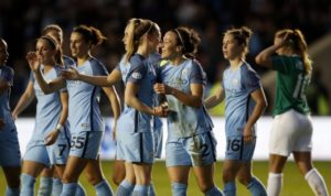 Manchester City Women defeated Fortuna Hjørring, 1-0, to advance to the UWCL semifinals. (photo courtesy Man City)