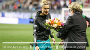 Germany's Anja Mittag honored for 150th cap