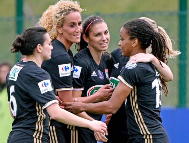 Alex Morgan led OL in goals in their Coupe de France semifinal win. (photo courtesy Olympique Lyonnais)