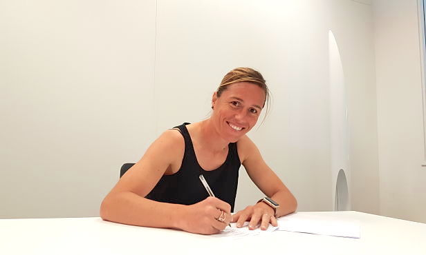 Camille Abily has signed to play one more season for Lyon. (photo: Lyon)
