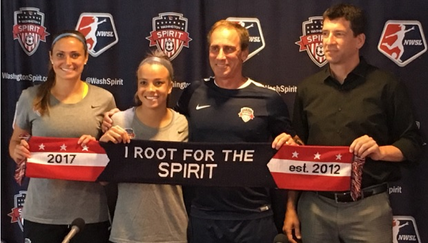 The Washington Spirit hold a press conference to welcome Mallory Pugh to the team. (photo by Jen Gordon)