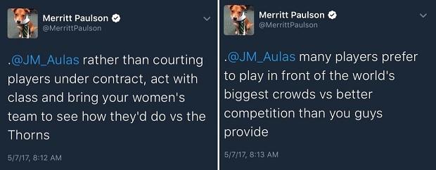 Paulson Tweet Response to Aulas