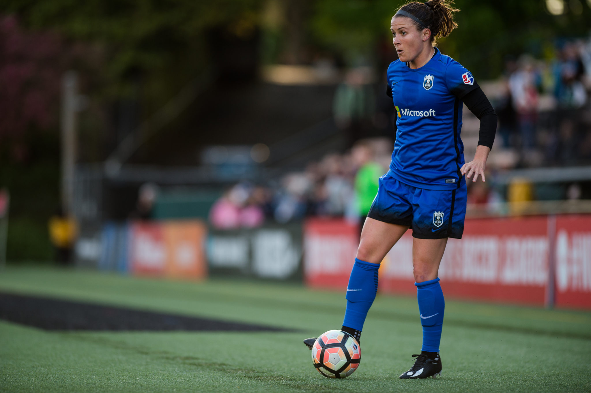 Nairn scored the first of six goals last weekend to help Seattle in their rout of the Washing Spirit by a score of 6-2 (Photo Credit: Jane Gershovich)