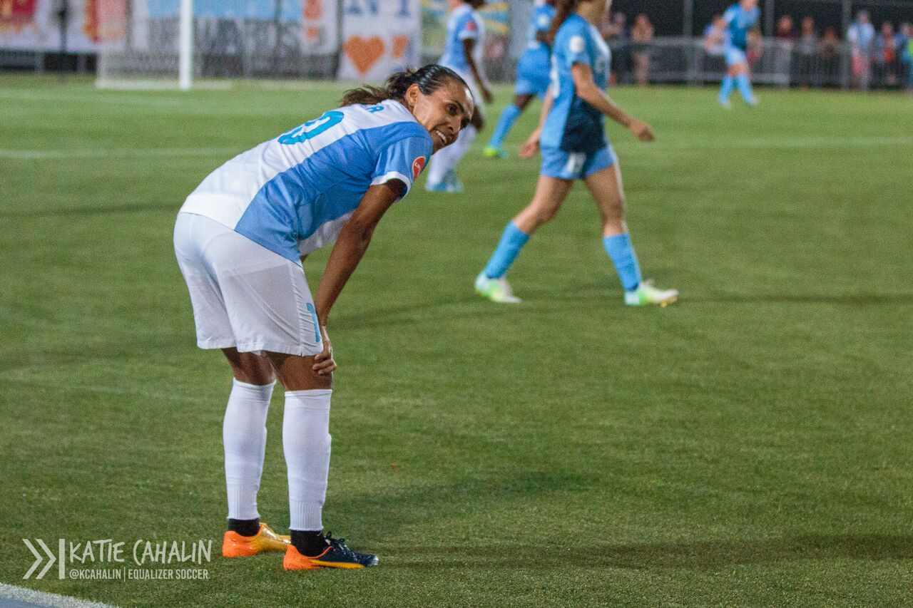 Marta smiles towards the end of the game. (photo copyright Katie Cahalin for The Equalizer)