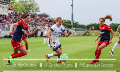 Lindsey Horan, 7, in action during last year's wildly entertaining, scoreless draw when the Thorns visited the SoccerPlex (photo copyright EriMac Photo for The Equalizer)