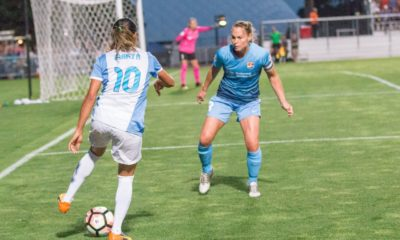 Christie Pearce and Sky Blue will once again try to hold off Marta and the Pride at Yurcak Field. (photo copyright Katie Cahalin for The Equalizer)