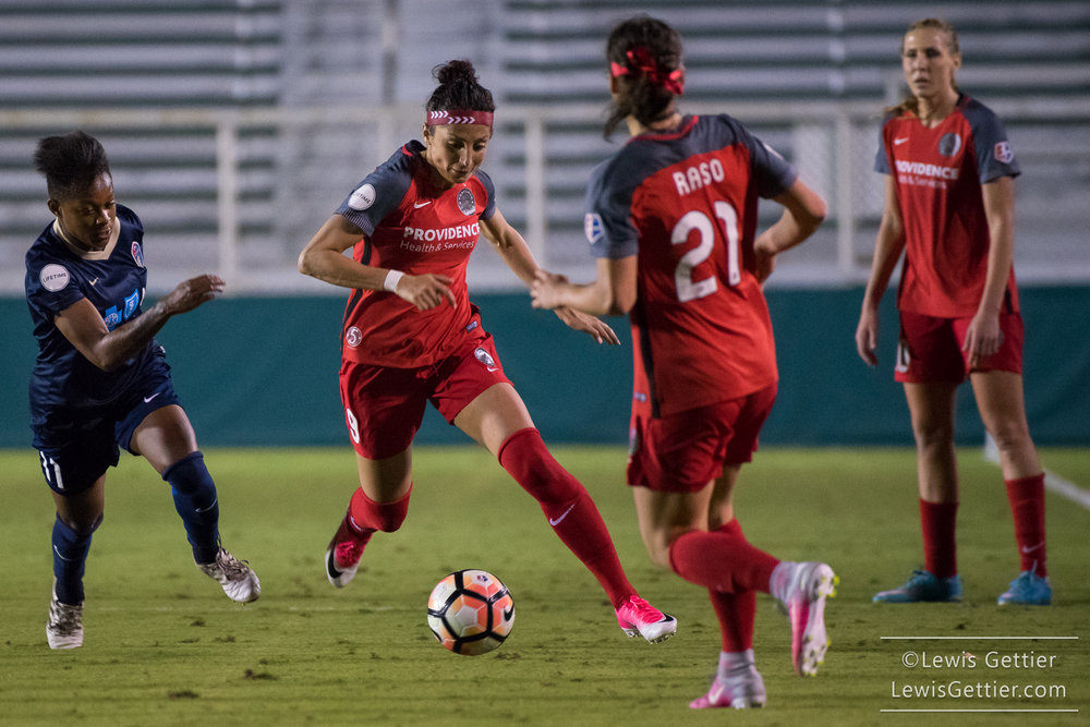 Nadia Nadim will likely be returning to the pitch for the Thorns this weekend. (photo copyright Lewis Gettier)