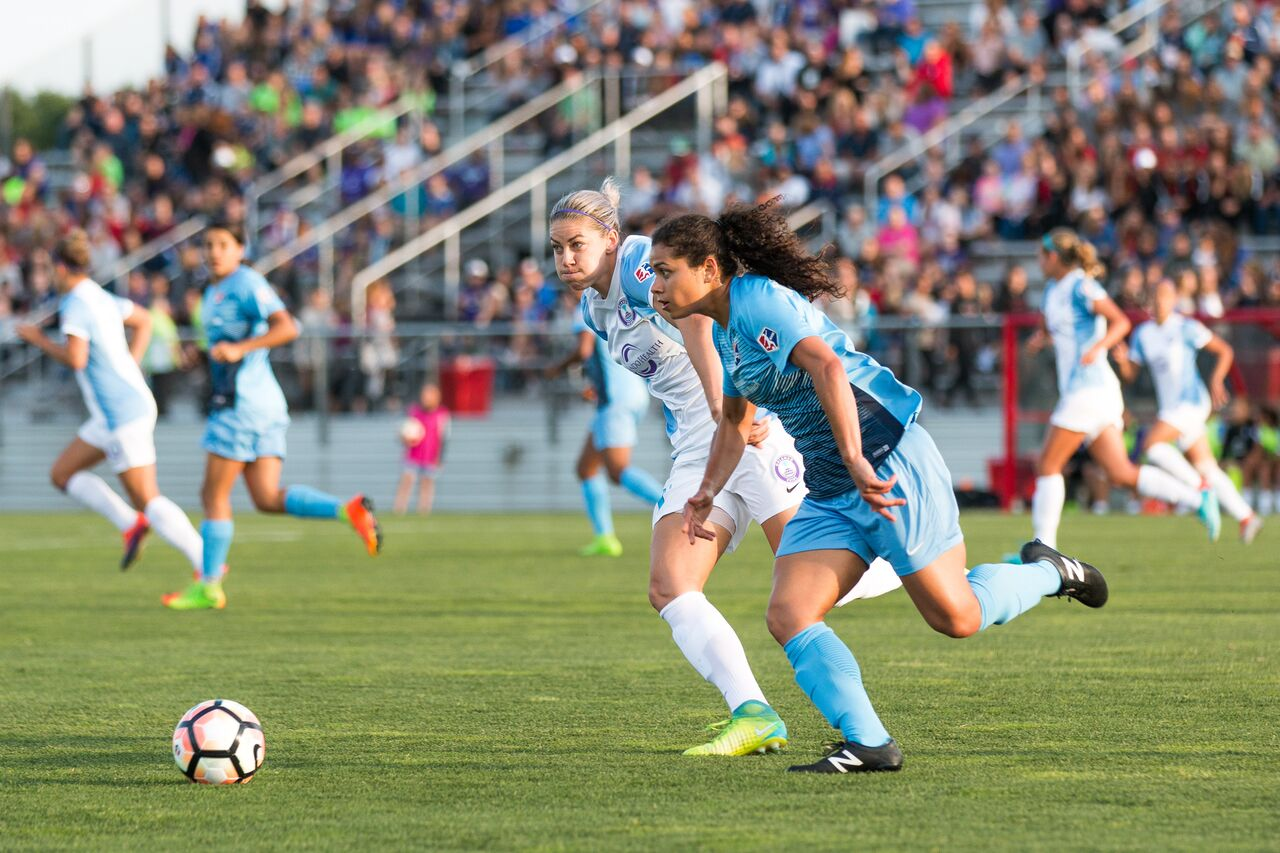 Raquel Rodriguez's goal against Portland was ruled to have been scored in the 24th second, breaking the NWSL record for fastest goal. (photo copyright Katie Cahalin for The Equalizer)