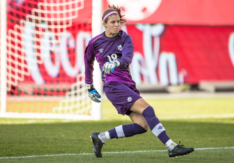 Steph Labbe has consistently been one of the top goalkeepers in the NWSL this season. (photo courtesy Canada soccer)