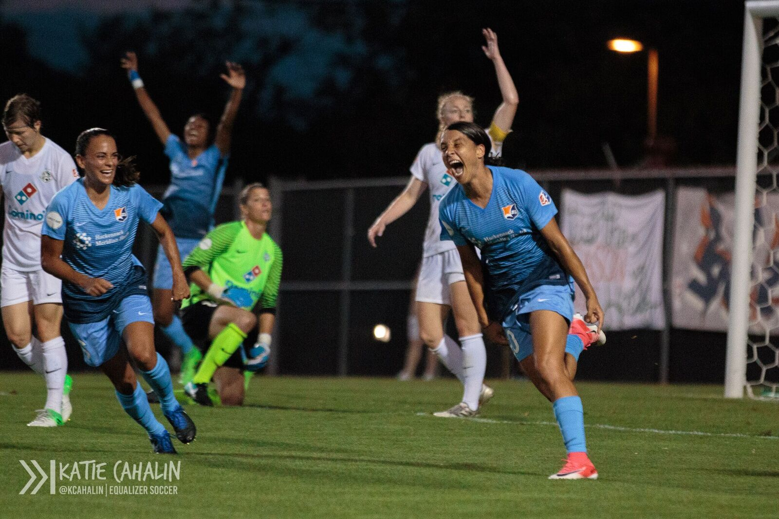 Sam Kerr brought a lot of joy to Yurcak Field on Saturday night (photo copyright Katie Cahalin for The Equalizer)