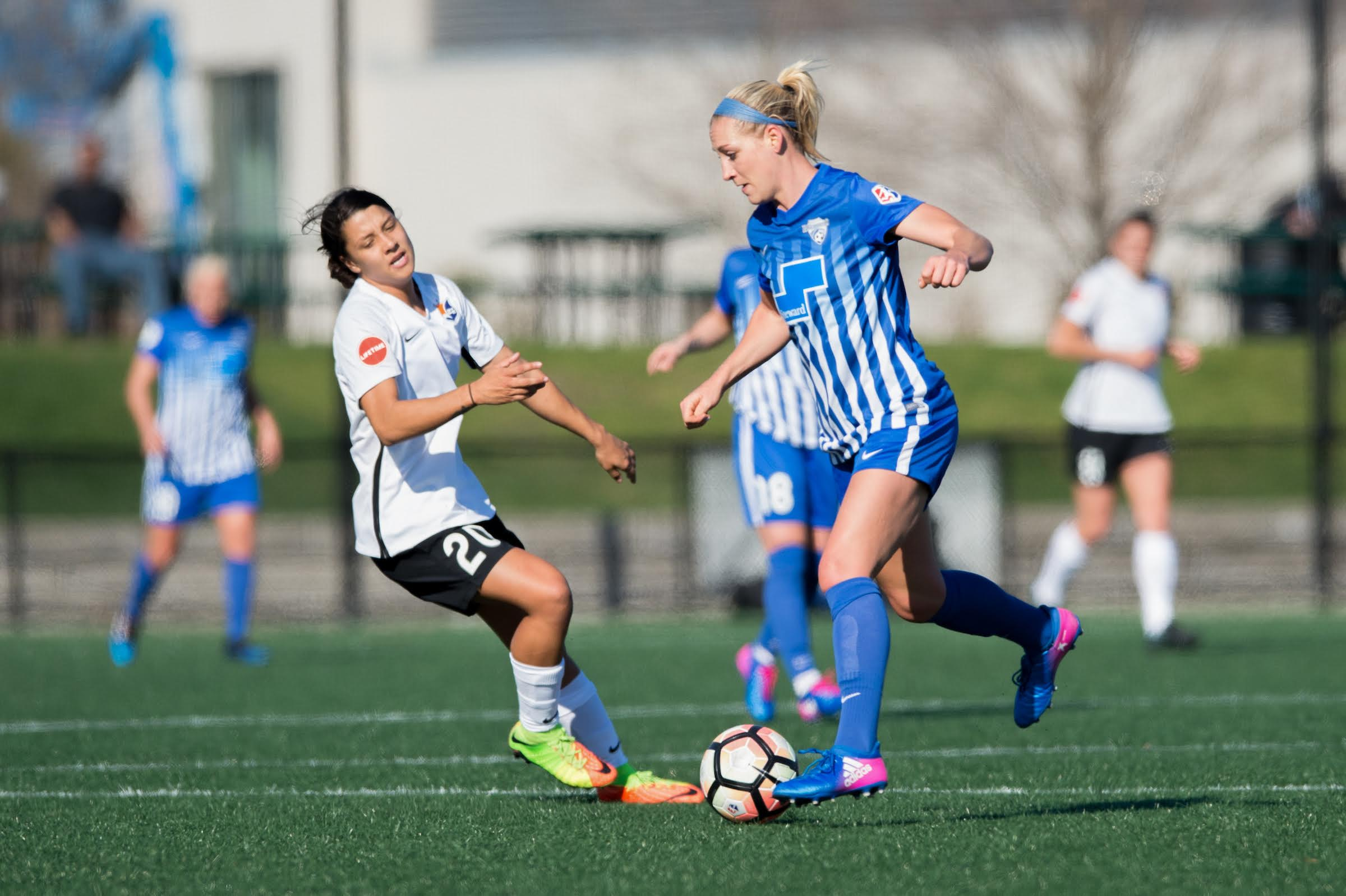 Megan Oyster has started and played in 13 games for the Breakers this season, logging 1,170 minutes on the backline. (Credit: ISI Photos/Mike Gridley)