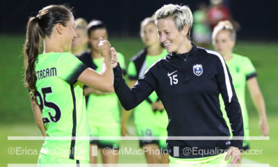 Megan Rapinoe Kiersten Dallstream fist bump