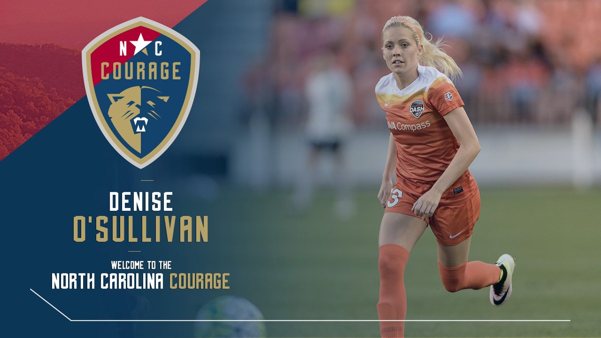 Two days after being waived by the Dash, Denise O'Sullivan has been claimed by the North Carolina Courage.