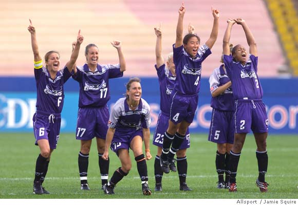 The Bay Area CyberRays overcame a slow start to reach the 2001 WUSA final, aka Founders Cup I
