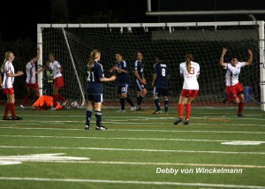 The Vancouver Whitecaps, pictured in blue in a 2012 W-League game. (Photo Copyright: Debby von Winckelmann)