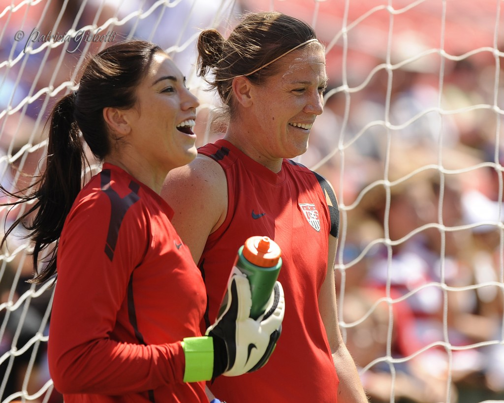 Hope Solo and Nicole Barnhart